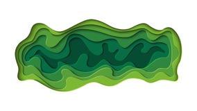 Zielony abstrakta papier rzeźbi tło Fotografia Royalty Free