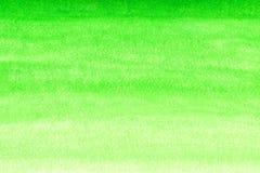 Zielony akwarela gradientu tło Fotografia Royalty Free