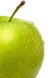 Zielony Apple mokry Zdjęcie Stock