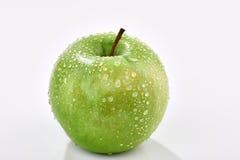 Zielony Apple mokry Obraz Royalty Free