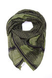 Zielony arabski szalik odizolowywający na białym tle Zdjęcie Royalty Free