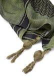 Zielony arabski szalik odizolowywający na białym tle Zdjęcie Stock