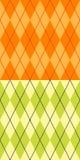 zielony argyle kolor żółty Zdjęcia Stock