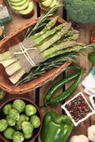 Zielony asparagus Zdjęcia Stock
