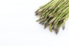 Zielony asparagus odizolowywający na białym tle Obrazy Royalty Free