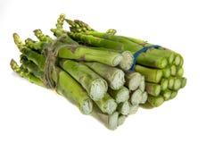Zielony asparagus odizolowywaj?cy na bia?ym tle fotografia royalty free