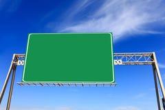 Zielony autostrada znak Obrazy Stock