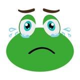 zielony avatar żaby płacz, grafika ilustracji