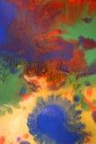 Zielony błękitnej czerwieni kolor żółty mieszający Fotografia Royalty Free