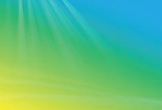 Zielony błękitny żółty tło ilustracji