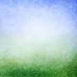 Zielony błękitny abstrakcjonistyczny łąkowy tło Obrazy Stock