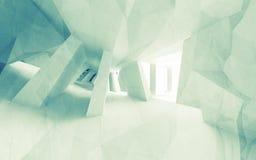 Zielony błękitny abstrakta 3d projekt z pustym wnętrzem, stary papier ilustracja wektor