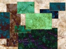 Zielony błękitny okręgu abstrakta kwadrata geometrii tło Zdjęcie Stock