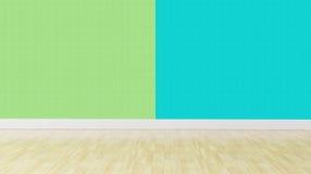 Zielony błękitny pastelowego koloru wnętrza tło Fotografia Stock