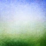 Zielony błękitny tło Obraz Stock