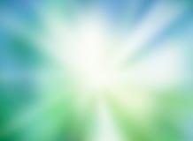 Zielony błękitny zamazany światła słonecznego tło Obraz Stock