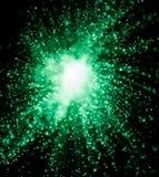 Zielony błyskotanie Starburst Zdjęcia Royalty Free