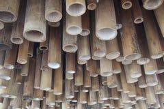 Zielony bambusa dach Obrazy Stock