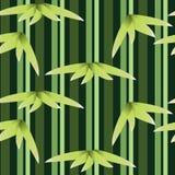 Zielony bambusa wzór Ilustracja Wektor