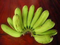 Zielony banan w Tajlandia Zdjęcia Royalty Free