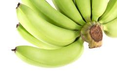 Zielony bananowy surowy odosobniony Zdjęcie Stock