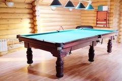Zielony basenu stół Obrazy Royalty Free