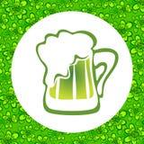 Zielony beer-02 Zdjęcie Royalty Free