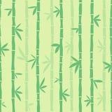 Zielony bezszwowy bambusa wzór wektor royalty ilustracja