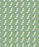 Zielony Bezszwowy Kwiecisty wzór Dla tkanin ilustracja wektor