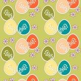 Zielony bezszwowy tło Wielkanocni jajka Obraz Stock
