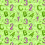 Zielony bezszwowy wzór Obraz Stock