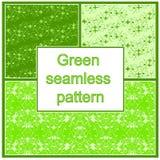 Zielony bezszwowy wzór Zdjęcie Royalty Free