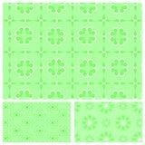 Zielony bezszwowy wzór z płatkami śniegu Obraz Royalty Free