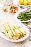 zielony białych szparagów Obraz Stock