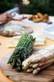 zielony białych szparagów Zdjęcie Stock