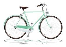 Zielony bicykl Zdjęcia Royalty Free