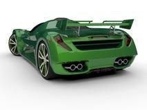 Zielony bieżny pojęcie samochód Wizerunek samochód na białym tle świadczenia 3 d ilustracji