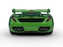 Zielony bieżny pojęcie samochód Wizerunek samochód na białym tle świadczenia 3 d ilustracja wektor