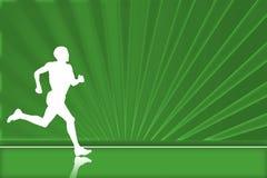 zielony biegacz Zdjęcia Stock