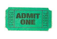 zielony bilet Zdjęcia Stock
