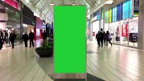Zielony billboard dla twój reklamy