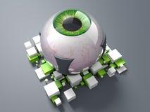 Zielony Bionic oko ilustracja wektor