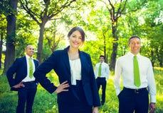 Zielony biznes drużyny środowiska lasu pojęcie zdjęcia stock