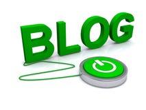 Zielony blog ilustracja wektor