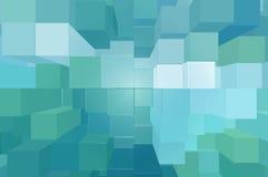 Zielony blokowy tło Obrazy Stock