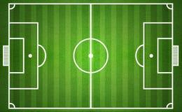 zielony boisko do piłki nożnej od odgórnego widoku zdjęcie stock