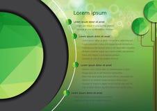 Zielony boke projekta szablon Zdjęcie Stock