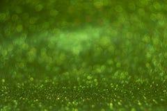 Zielony bokeh, abstrakcjonistyczni defocused światła Obrazy Royalty Free