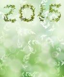 Zielony bokeh od natury z liściem Zdjęcia Stock