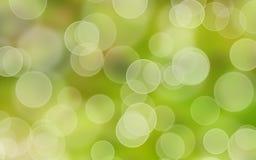 Zielony bokeh tło ilustracja wektor